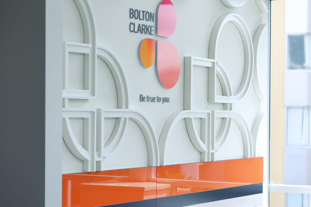 Your Brand - Bolton Clarke Boardroom Feature Wall